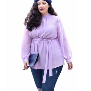 Lane Bryant x girl with curves lavender boho top
